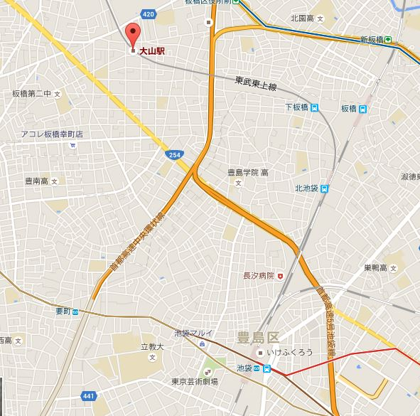 大山駅周辺