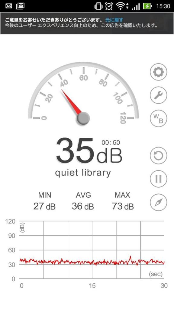 nicochaオフィス内の騒音